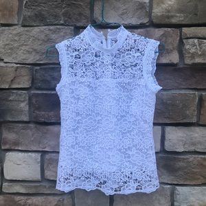 🔥🔥🔥 beautiful white lace top